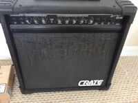 CRATE GX-60 Guitar Amp. Twin channel. Black
