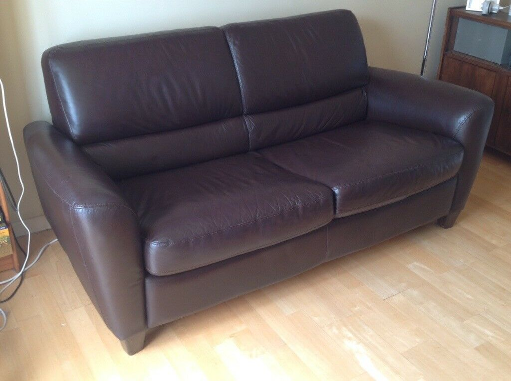 Leather sofa / sofa bed IKEA LERVIK | in Cambridge, Cambridgeshire ...