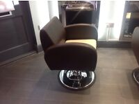 Hair salon chairs and backwash