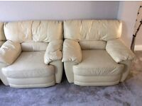 2 x Leather armchairs (hardly used)