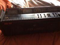 Hitachi twin cassette player
