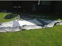 Suncamp platinum eclipse porch awning. Aluminium frame. Good condition, with groundsheet.