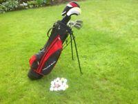 Kids 'Young Gun!' golf bag and clubs