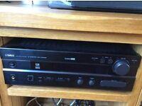 Yamaha av amplifier and Pioneer SHS100 speakers