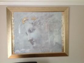 Large picture frame containing print of Godess Athena