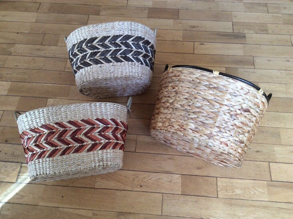 New oval wicker storage basket great for hampers
