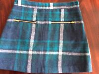 Girl's skirt (Next)' age 9 yrs, excellent condition, green/blue