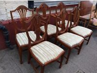 Regency style dining chairs : free Glasgow delivery