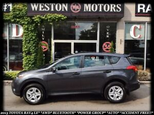2013 Toyota RAV4 LE*AWD*BLUETOOTH*PWR GROUP*ACCIDENT FREE!!*