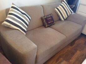 Oatmeal colour sofa