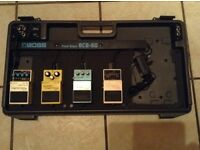 Boss pedals and pedal board for sale