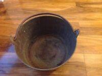 Pair of brass Victorian jam pots