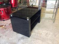 Black table for T.V