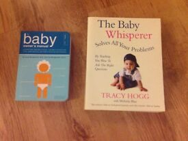 """Baby books """"The Baby Owner's Manual"""" and """"The Baby Whisperer Solves All You Problems"""""""