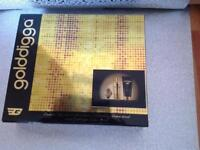 Brand new unopened gold digga perfume, lotion and watch set