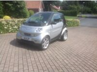 East Yorks. Smart Fortwo Pulse 2007 with optional motorhome bracket
