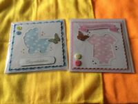 12 handmade greeting cards with inserts beautifully done .including baby and age cards .