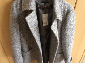 NEXT ladies woollen blend coat, PETITE. size18. New with tags.