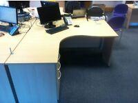 Beech Effect Fixed Pedestal Desks