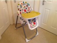 Mamas and Papas Circus Highchair. Well cared for.