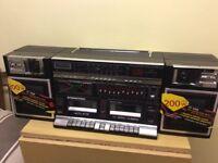 Retro 80s old school classic. Boom box sound system