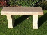 Polished granite garden seat
