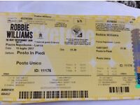 15 July 2017. Robbie Williams Lucca, Italy - 2 tickets