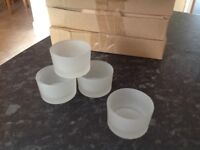 Frosted glass tea light holders