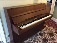 Silberman upright piano tuned to concert pitch, 88 keys