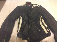 Men's heavy leather jacket