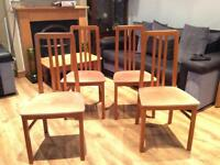 Beautiful Vintage 4 x Teak Dining Table Chairs