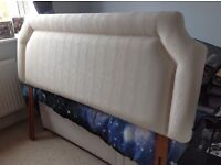 king size Head board Beige padded with trim