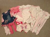 Baby Girl Clothes 6-9 Months (Disney, M&S, M/Care) VGC!