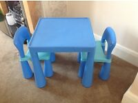 Excellent Childrens Play Table and Chairs
