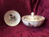 Wedgwood Hathaway Rose bone china dressing table set