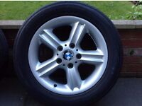 BMW Z3 TYPE 55 ALLOY WHEELS & 4 TYRES (2 TYRES ARE BRAND NEW)