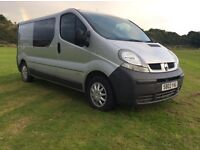 2003 RENAULT TRAFIC 1,9 LWB SILVER DAY VAN CREW CAB EXCELLENT CONDITION YEARS MOT *SAT NAV* CAMPER!!