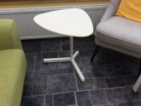 White side table adjustable height. Brand new , unused