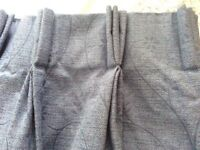 2 pairs of triple pinch pleat curtains.