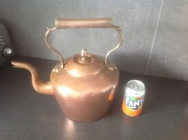 Large copper kettle, very old