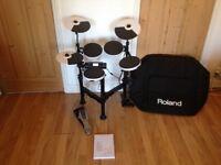 Roland V drums with custom case
