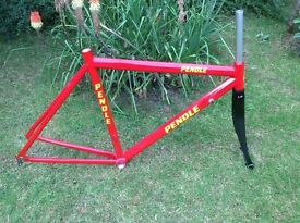 GENTS PENDLE ALUMINIUM ROAD/RACE BIKE FRAME & CARBON FORKS - 21 INCH FRAME SIZE