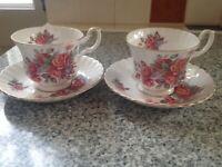 Royal Albert cups/saucers