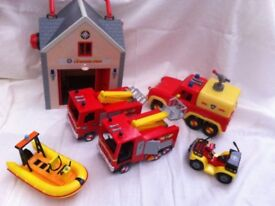 Fireman Sam bundle collection fire engines fire truck fire house figures