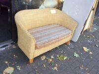 Cane. 2 seater sofa