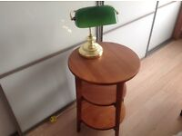 Small Table with Bankers Lamp