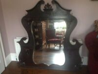 Antique Fireplace Overmantle / Mirror
