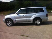mitsibishi shogun di-d elegance auto 3.2 td 7 seater 06 low miles