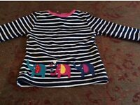 Little girls jo jo maman be be top..real lucite..size 18 -24 months.lovely and cute top 18 to 24 mth