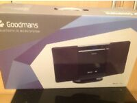 Goodmans Bluetooth CD Micro System with Remote Control. brand New in Original packaging.